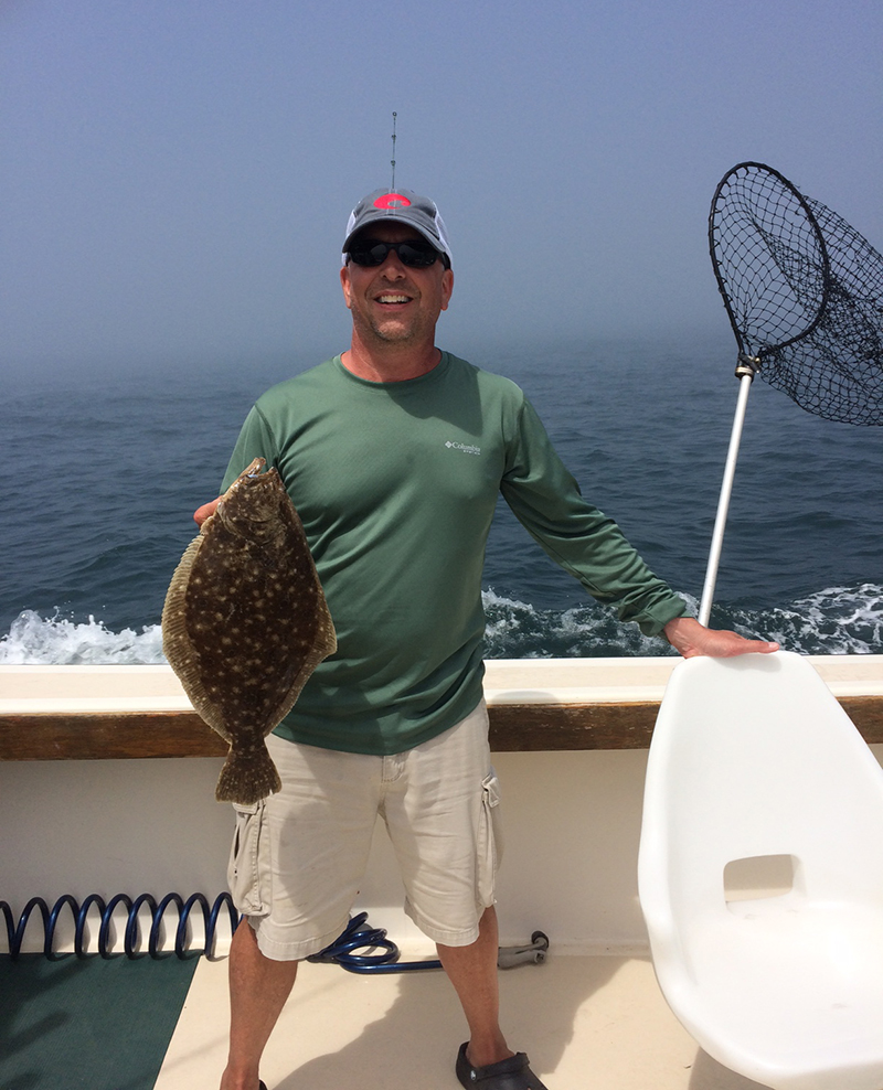 Aces Wild RI fishing charter Sea Bass And Flounder Were Hitting It!