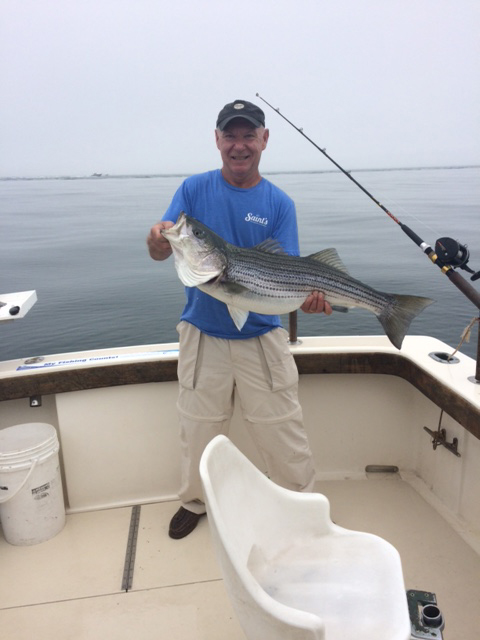 Aces Wild Fishing Charter land 11 Striped Bass and numerous Sea Bass