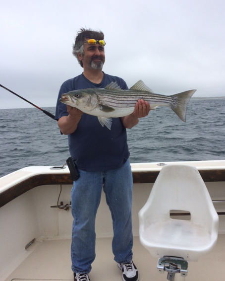 Striped Bass charter in RI and caught 11