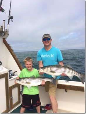 More Stripers fishing charter in rhode island