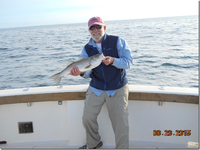 Aces Wild on a RI Striper Fishing Charter