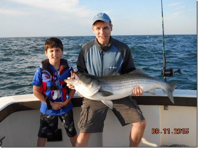 Aces Wild Rhode Island Fishing Charter with Another Father-Son Duo