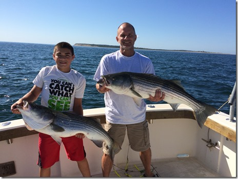 Aces Wild striped bass fishing charter on the move