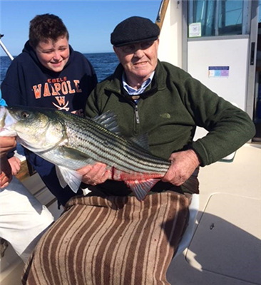Striper Charter with 3 generations of the Walsh's onboard - 06/12/2018