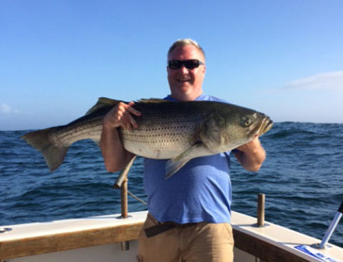 Epic RI Deep Sea Fishing Charter Hook Into 48″ Striped Bass!