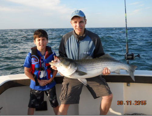 Another Father-Son Duo on a Striped Bass Fishing Charter