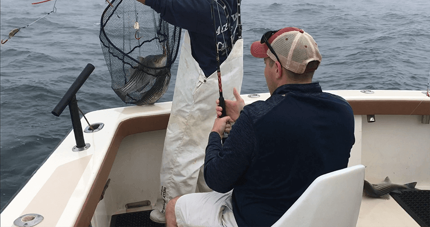 RI Striped Bass charter in June 2020