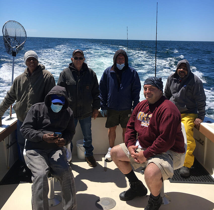 Block Island Striped Bass charter on the Aces Wild