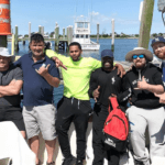 flounder and striped bass charter in rhode island on aces wild